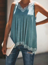 Load image into Gallery viewer, Solid Color Lace Stitching V-neck Fashion Camisole