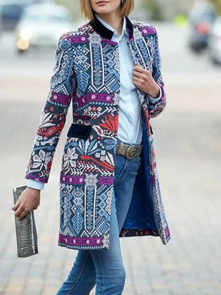 Handmade Bohemian Long Sleeve Coat
