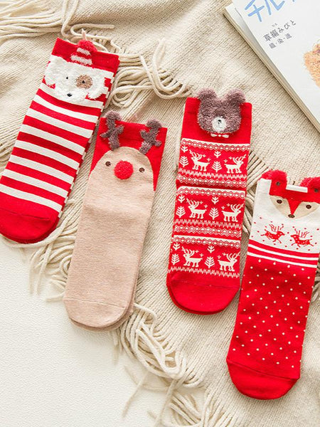 Christmas autumn and winter cartoon  stockings