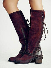 Load image into Gallery viewer, Autumn and Winter High-heeled Straps High Boots