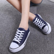 Load image into Gallery viewer, Big Size Canvas Candy Color Lace Up Casual Shoes