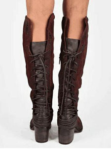 Autumn and Winter High-heeled Straps High Boots