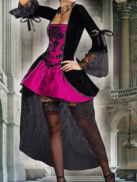 Halloween Cosplay Adult Costume Vampire Witch Queen Dress
