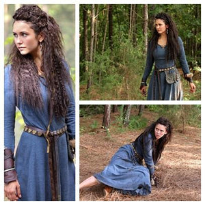 Bohemian Vintage Medieval Blue Long Dress