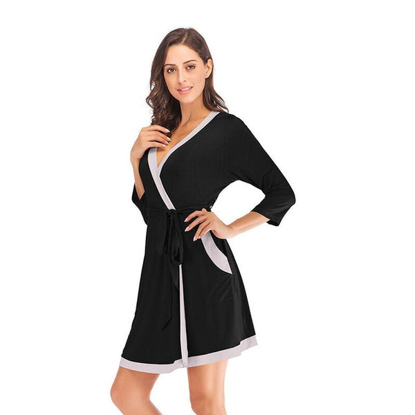 Summer Kimono Robes Women Soft Modal Bath Gown Yukata Nightgown Sleepwear Female Sleepshirts Bathrobe Pijama Mujer