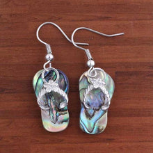 Load image into Gallery viewer, Kraft-beads Unique Silver Plated Slipper Shape Abalone Shell Earrings For Women Fashion Jewelry