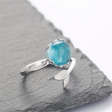 Load image into Gallery viewer, Stylish Design Mermaid Foam Crystal Adjustable Women Plating Finger Ring Jewelry