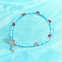 Load image into Gallery viewer, Bohemia Beads Vintage Leather Rope Leg Anklet Moon Sun Charm Beach Jewelry