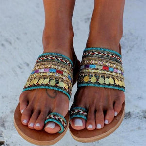Summer Coin Beach Women Slippers Flip Flops Sandals