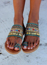 Load image into Gallery viewer, Summer Coin Beach Women Slippers Flip Flops Sandals