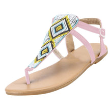Load image into Gallery viewer, Summer Women Fashion String Bead Casual Flats Roma Sandals