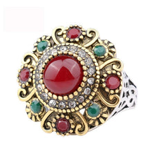 Load image into Gallery viewer, Unique Vintage Wedding Turkey Crystal Jewelry Rhinestone Ring