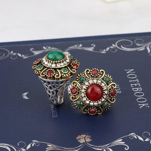Unique Vintage Wedding Turkey Crystal Jewelry Rhinestone Ring