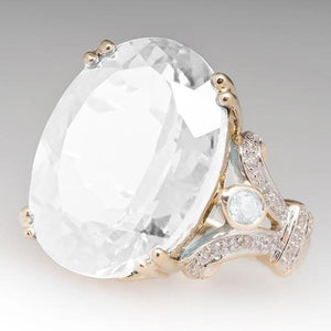 Fashion Engagement Marriage Goose Egg Zircon Ring