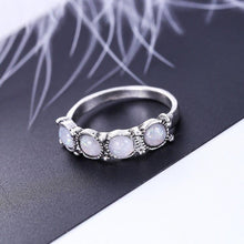 Load image into Gallery viewer, 8PCS Oval Natural Stone Women Vintage Retro Color Rings