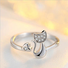 Load image into Gallery viewer, Cubic Zircon White Fish Adjustable Rings for Woman
