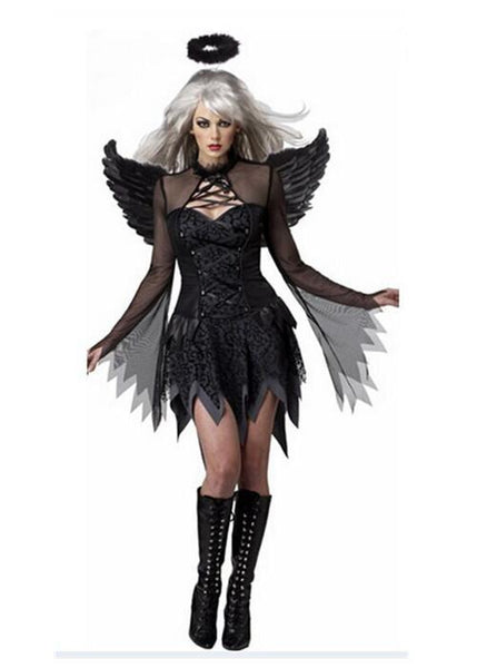 Halloween Angel Demon Cosplay Costume Dress