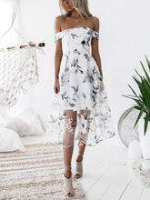 Load image into Gallery viewer, One-neck Printed Midi Dress