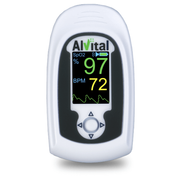Finger Pulse Oximeters White Grey With Green Led