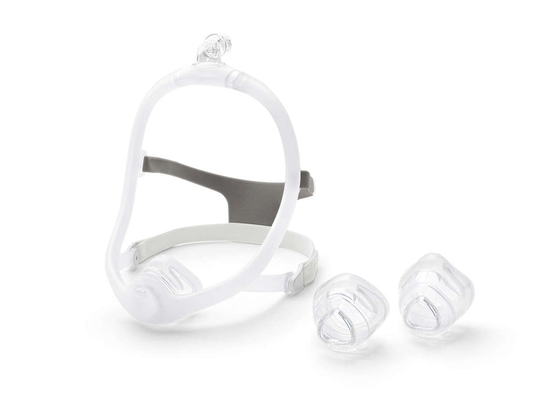 CPAP Nasal Mask Side View 2 Attachments