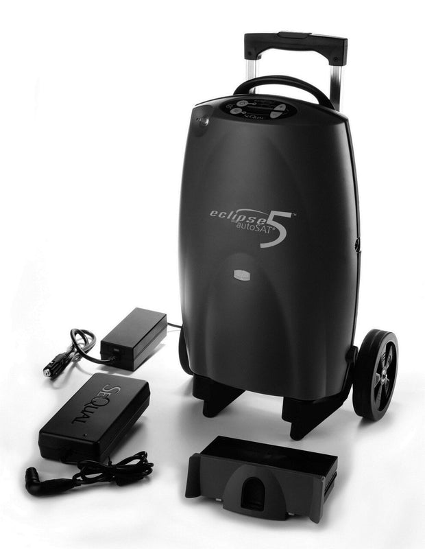 Portable Oxygen Concentrator Black With Accessories