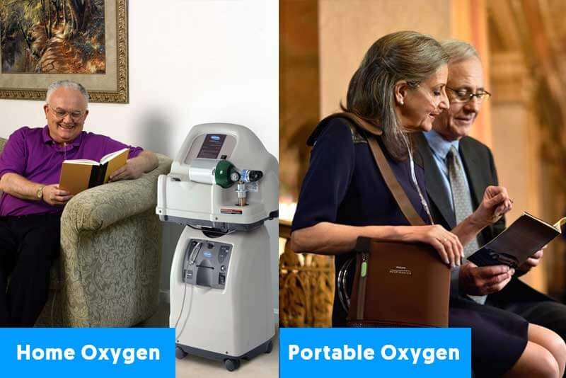 Home Oxygen Vs Portable oxygen