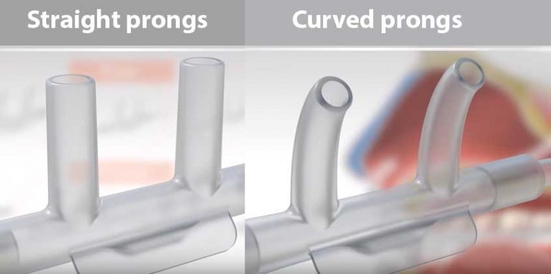 straight prongs vs curved prongs