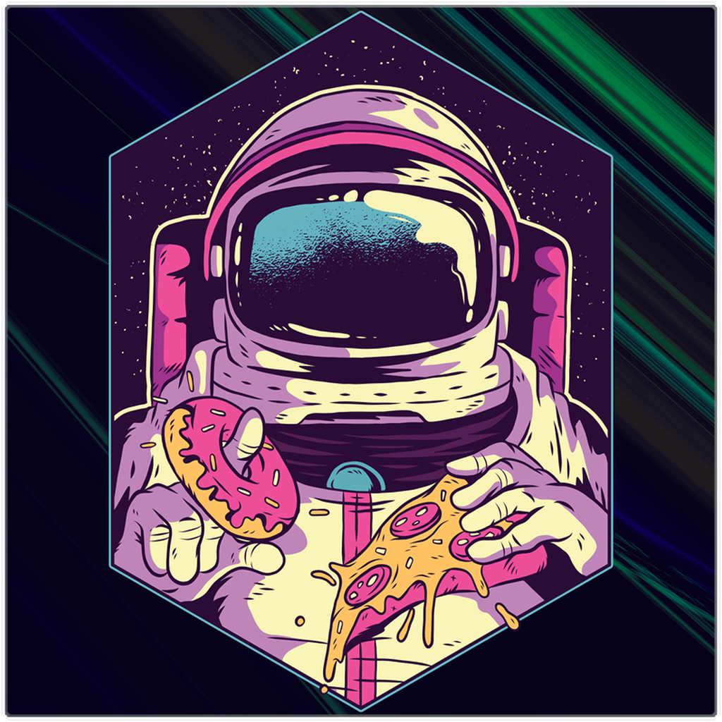 Space Food - Metal Print