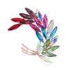 Abstract Brooch - Grain II - A delightful vibrant colourful brooch with rainbow crystals.