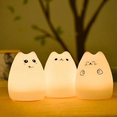 Boopimals - Callie The Cat - An adorable silicon nightlight shaped like a cute, chubby kitty cat.