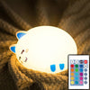 Boopimals - Charlie The Cat - An adorable silicon nightlight shaped like a cute, chubby little sleeping kitty cat.