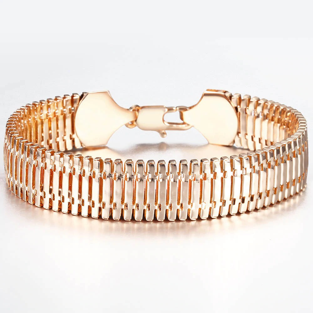 Emilia Herringbone Bracelet - A lovely rose gold bracelet.