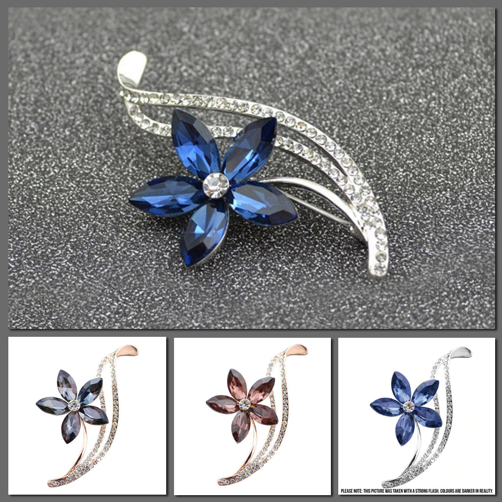 The Florist's Brooch - Starflower - Lovely crystal flowers in an assortment of lovely colours.