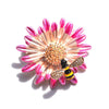 The Bumblebloom Brooch - A cute tiny bee perched on a daisy.
