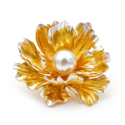 The Delphine Brooch - A lovely oyster flower brooch available in eight stunning colour combinations.