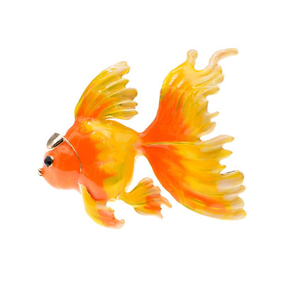 The Cute Critters Brooch - Goldfish - An adorable large brooch available in orange, red, or turquoise blue.
