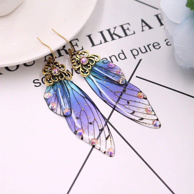 The Titania Earrings - Large fairy wing earrings available in a rainbow of beautiful colours.