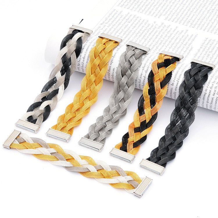 Elektra's Embrace Magnetic Clasp Bracelet - 5 Strand Mesh Braid - A beautiful bracelet made up of multiple metal stands connected by a strong magnetic clasp.