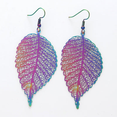 The Dazzle Collection - Acacia - UV treated stainless steel earrings that glow in a rainbow of colours.