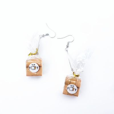Teenytopia Lil' Loaves Earrings - Tiny little loaves of bread, for your ears. Cute!
