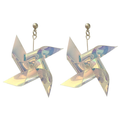 Teenytopia Whirlygig Pinwheel Earrings - Cute miniature earrings that look like children's pinwheels.