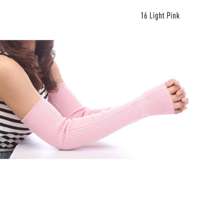 Essentials Cashmere Arm Warmers (No Thumb Hole) - Beautiful long wool arm warmers available in many colours and lengths.