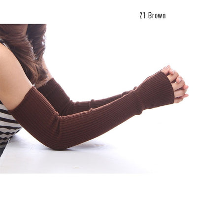 Essentials Cashmere Arm Warmers (With Thumb Hole) - Beautiful long wool arm warmers available in many colours and lengths.