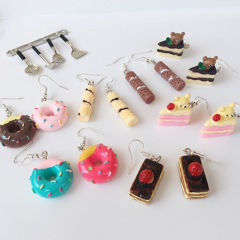 Teenytopia Petite Patisserie Earrings - adorable resin earrings made to resemble tiny, delicious cakes. Very cute!