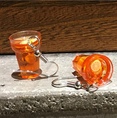 Teenytopia Tasty Iced Tea Earrings - Adorable little french hook earrings decorated with tiny cups of iced tea made of resin.