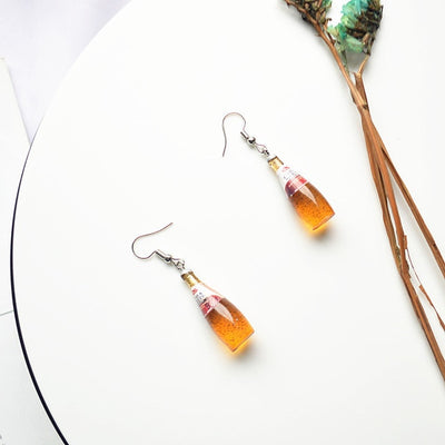 Teenytopia Bootiful Bubblejuice Earrings - Adorable tiny miniature bottles of bubbly soda, super cute!