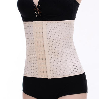The Lauren - A low-impact elastic waist trainer or shaper, available in cream or black.