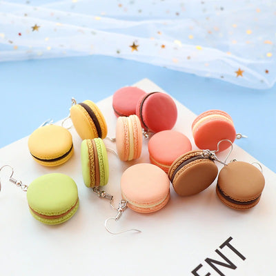 Teenytopia Mega Macaron Earrings - Adorable french hook earrings, designed to look like macarons but about half the size of the real thing.
