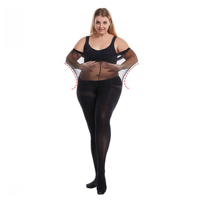 Essentials Queen-Size Ultra-Stretch 60D Opaque Tights - Super-stretchy pantyhose for the plus size person!