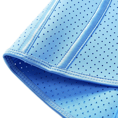 Artemis Vented Fitness Waist Trainer - This picture shows a close up of the waist trainer in the colour Baby Blue.